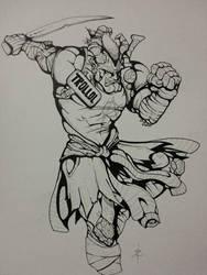 Shadowrun - Troll Ganger Adept by Eppy