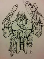 Shadowrun - Dwarf Weapons Specialist by Eppy