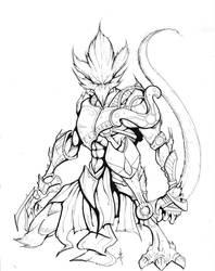 Creature Design - Urthrin - Ink by Eppy