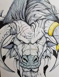 Tauren Warrior Sketch by Eppy
