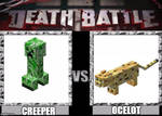 Death Battle:Creeper VS Ocelot by AudiomachineForLife