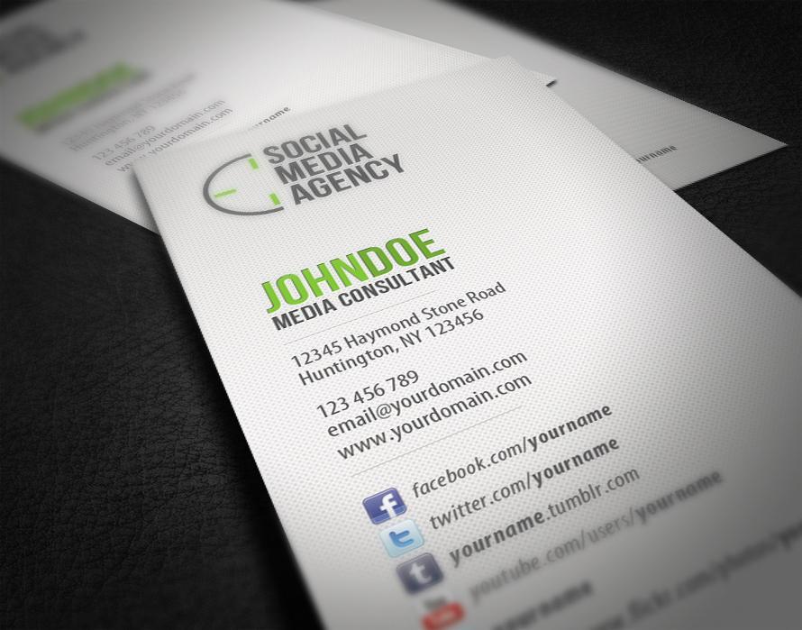 social media business card