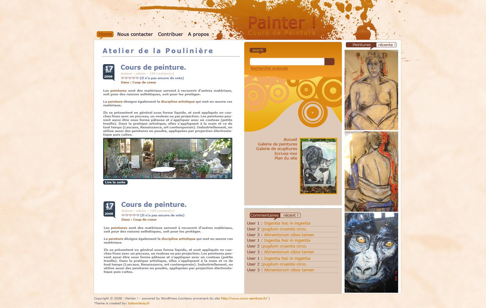 Painter - Wordpress Skin by Azrade