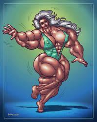 1805 Muscle Beauty by Jennysartwork