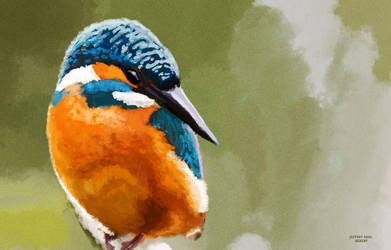 King Fisher brush test by ArtofJefferyHebert