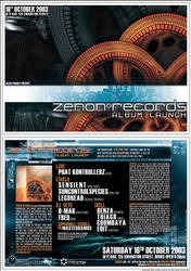 ZENON RECORDS Flyer A5 by edit-dsn