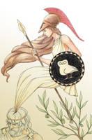 The Birth of Athena by vassekocho
