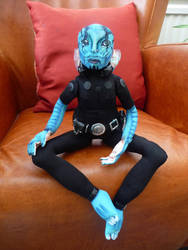 Abe Sapien cloth doll by slakerart