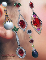Jeweled Excellence Earrings 2 by mattymanx