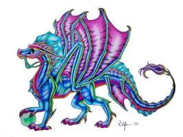 Rainbow Dragon by SweetMayDreams