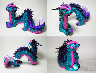 Turquois Oriental Dragon by SweetMayDreams