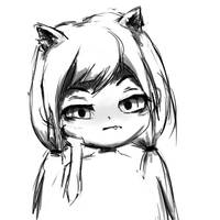 Catgirl chibi doodle by Flucimour