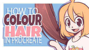 How to Colour HAIR in PROCREATE  iPad Pro Tutorial by HopelessPeaches