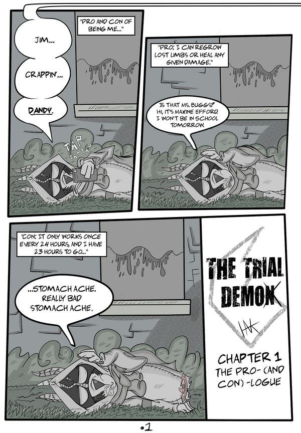 THE TRIAL DEMOn - Chapter 1. Pg 1 by HanksBeanieHat