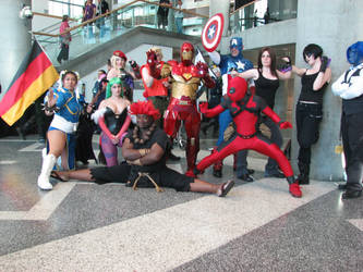 Superhero Cosplay Group by Firaphrin
