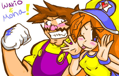 Journal Header: Wario and Mona by LoveandCake
