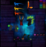 Ultimate Deep space dragon Visual Ref by DragonXborne