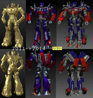 Leader Class Optimus Prime Zbrush Progress by wingsyo