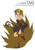 girl in RPG magicien by killerTAKI