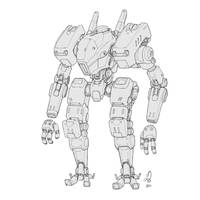Linework Mech by shinypants