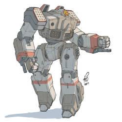 Battletech Crusader by shinypants