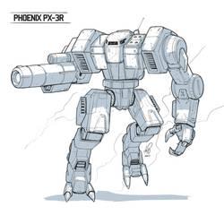 Phoenix Battlemech - Commisison by shinypants