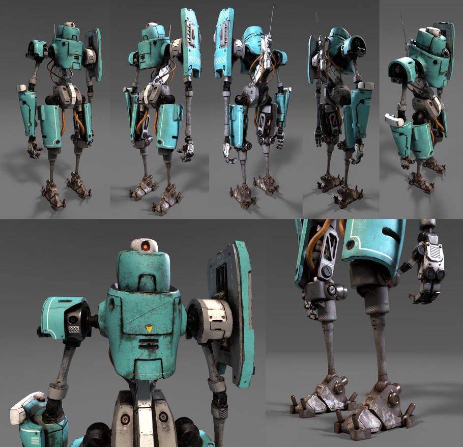 Standing Bot Textured by shinypants