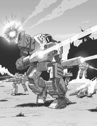 Dawn Guards - Battletech Shattered Fortress by shinypants