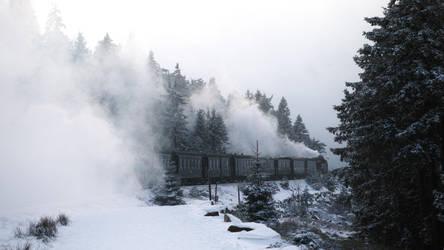 Winterdampfzug by RitterRunkel
