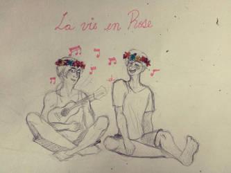 La vie en rose -Sketch by Ocurimi
