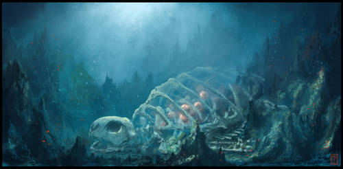Waterdragon Hatchery by m-hugo