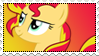 MLP: Sunset Shimmer stamp by DivineSpiritual