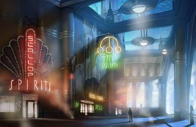 BioShock Infinite: Market Street Progression 1/3 by RadicalEdward2