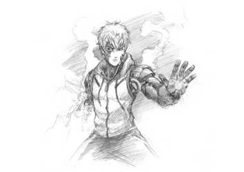 Demon Cyborg by ItsBirdyArt