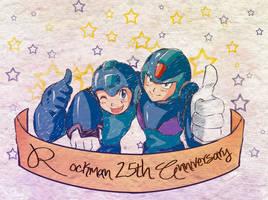 Rockman 25th Anniversary by Soul-Rokkuman