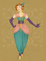 Harem Masque Gown by paigehwarren