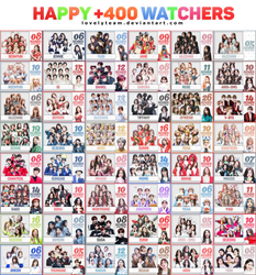 101218 :: HAPPY 400 WATCHERS by Lovelyteam
