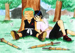 Zoro and Kuina by Alkanet