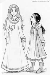 Sansa and Arya by Alkanet