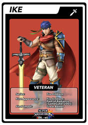 SSB4 Cards Ike by GameAndWill