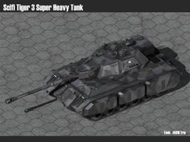 Scifi Tiger 3 Super Heavy Tank by msgamedevelopment