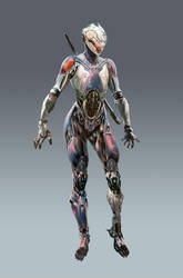 Rebirth: Cyborg Ninja by adijin