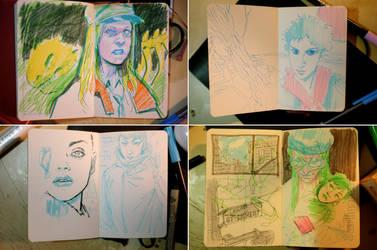 Sketchbook-Moleskine 01 by adijin