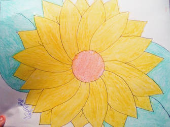 Sunflower drawing by LalaNorisu