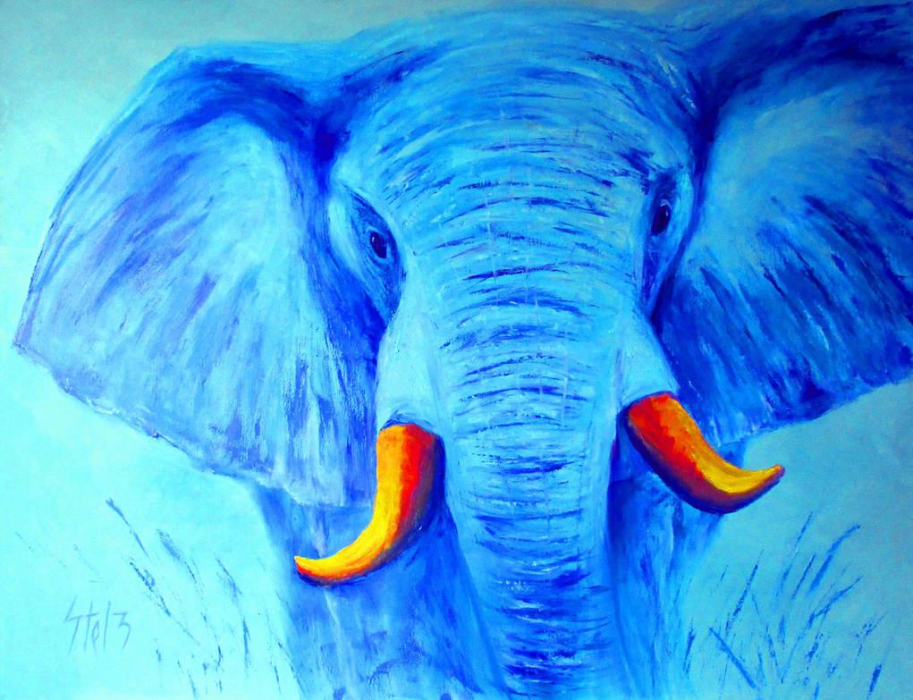 Blue Elephant by VladStelz