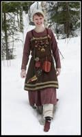 Winter Viking girl by VendelRus