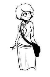 Seifuku Sketch by SBDraws