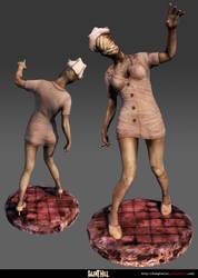 Silent Hill - Bubble Head Nurse by Akiratang