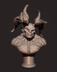 Demon Head Bust by Akiratang