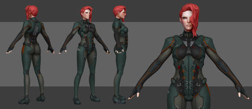 Sci Fi Solider - Maya progress by Akiratang
